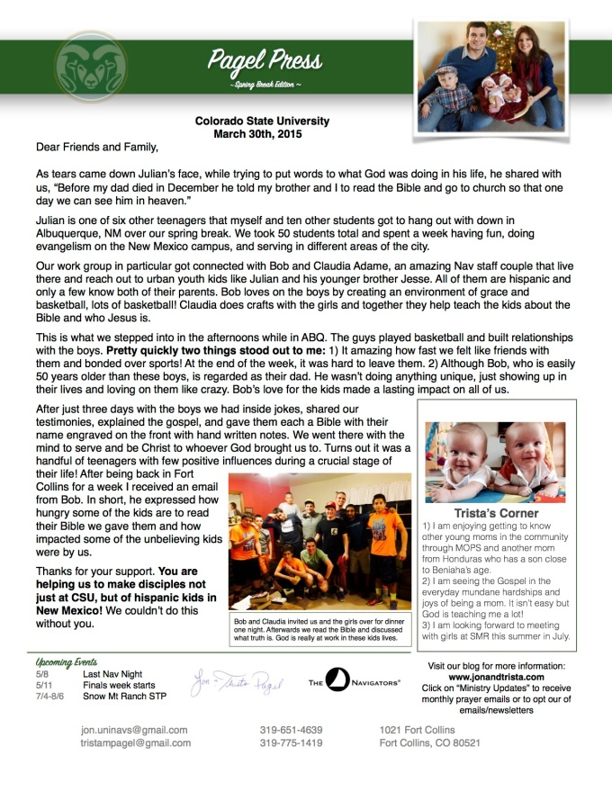 March 2015 Newsletter 2