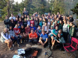 FRESHMEN CAMPOUT: This was a big event freshmen loved and enjoyed meeting other students in the ministry.