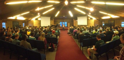 SUMMER TRAINING PROGRAM: Two nights each week the students get to hear from great speakers on something related to the weekly topic they are also studying about in their Bible studies. They also spend some time worshipping God and hanging out.